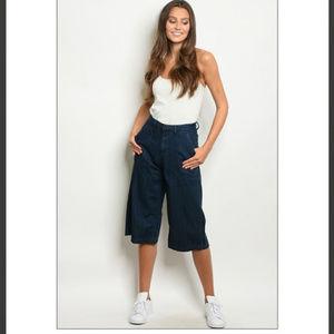 Denim - 2️⃣left🔴🆑🏷👖 Dark wash wide Capri jeans